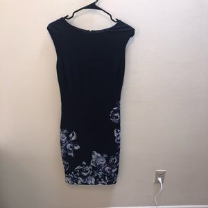 Navy Floral Cache Professional Dress